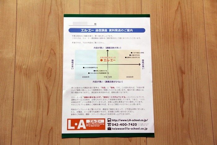 L・A(エルエー)の社労士通信講座のコンセプト資料