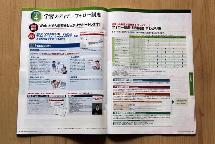 TACの社労士講座のサポート制度の情報